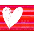 Card with hand drawn heart on striped background vector image