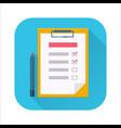 checklist flat icon vector image