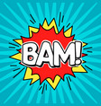 comic speach bubble effect bam vector image