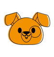 dog or puppy cute animal cartoon icon image vector image