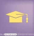 graduate hat Education sign vector image