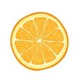 Hand drawn cartoon orange slice vector image