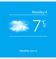 Realistic weather icon Overcast clouds vector image
