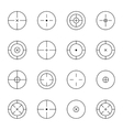 set of different types crosshair vector image