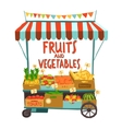 Street Cart With Fruits vector image