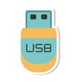 usb storage device isolated icon vector image