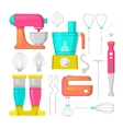 Kitchen Mixer and Blender Icons Set Culinary vector image