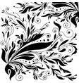 vintage ornament black and white background vector image vector image