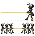 Competition With Rope vector image vector image