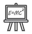 blackboard line icon chalkboard and school vector image
