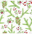 Seamless pattern winter christmas hand drawn vector image