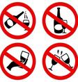 no alcohol symbol vector image vector image