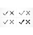 Cross marks - hand drawn vector image