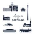 Landmarks of Dortmund vector image vector image