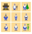 assembly flat Santa Claus vector image