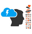 brainstorming icon with lovely bonus vector image