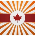 Canada paper Emblem with red Ribbon vector image