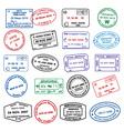 clean passport stamp vector image