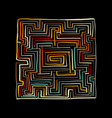 labyrinth square sketch for your design vector image