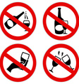 no alcohol symbol vector image