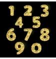 Numbers set in golden style vector image