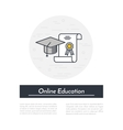 Online Education Icon vector image