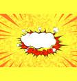 pop art graphic explosion speed cloud bright vector image