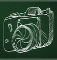 sketch style of retro camera vector image