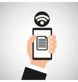 smartphone file internet wifi icon vector image