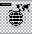 symbol logistic around the world vector image