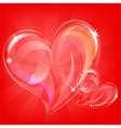 transparent hearts vector image