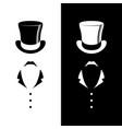 vintage gentleman club logo vector image