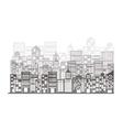monochrome building and city scene vector image