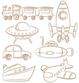 Transportation Icons vector image vector image