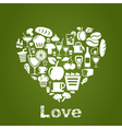 Heart food2 vector image