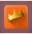 Golden crown flat icon vector image