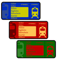 Train tickets vector image vector image