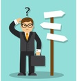 man standing and choose vector image