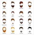 Mans hair set of beards and mustaches vector image