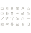 Appliances black icons set vector image
