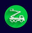 Construction Machines icon button logo symbol vector image