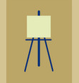 icon easel flat design symbol vector image
