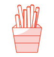 potatoes fries isolated icon vector image