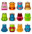 school kids school backpack back to school vector image