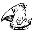 Bird with big beak vector image vector image