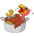 Turkey in the saucepan vector image vector image