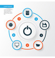 laptop icons set collection of desktop hdd vector image
