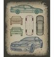 Set car is designed vector image vector image
