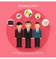 Business people on meet vector image