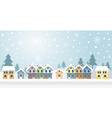 Winter Houses with Snowing Background vector image